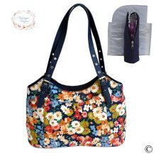 Vintage Vogue Classic Navy Floral Baby Changing Bag