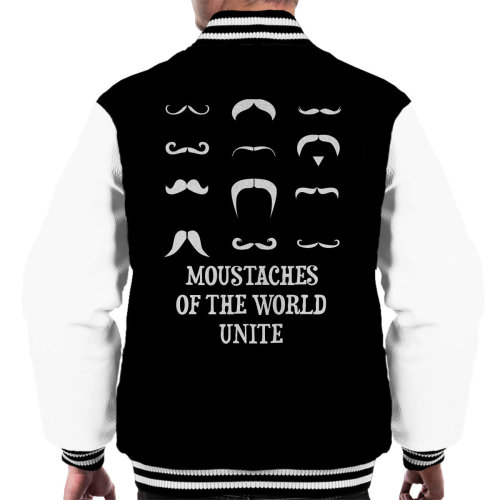 Moustaches Of The World Unite Men's Varsity Jacket