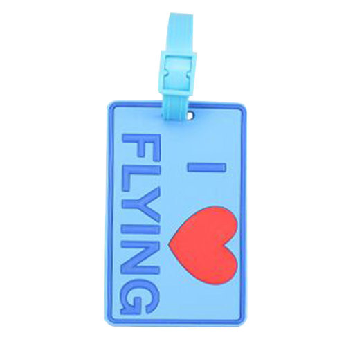 Set Of 2 Luggage Tag Bag Tags Silicone Name Tag Travel Tag [I Love Flying]