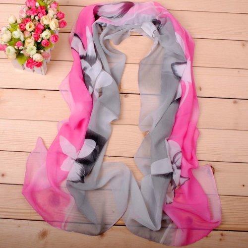 160 50cm Flowers Print Floral Fashion Scarf X169