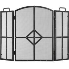 Fire Screen - Brushed Black