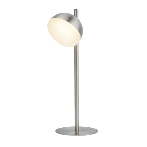 Searchlight Tully 1 Light Satin Silver LED Table Lamp