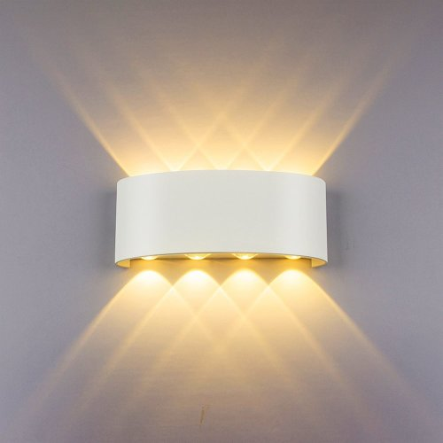 Modern Wall Light 8W White LED Sconce Up Down Wall Lamp Aluminium LED  Waterproof Spot Light Night Lamp for Living Room, Bedroom, Hallway,  Bathroom...