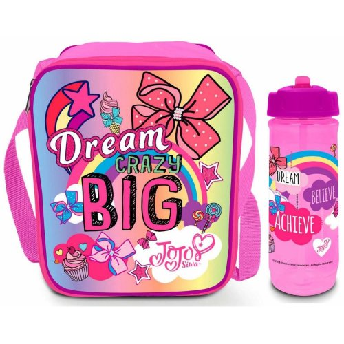 JoJo Siwa Lunch Bag/Box and Flip 'n' Flow Bottle (590ml) | Lunchbox