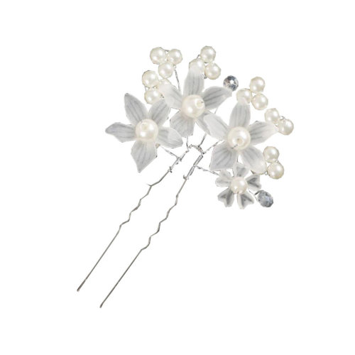 Rhinestone Hairpin U-shaped Clip Pearl Hair Hoop Married Bride Wedding Jewelry