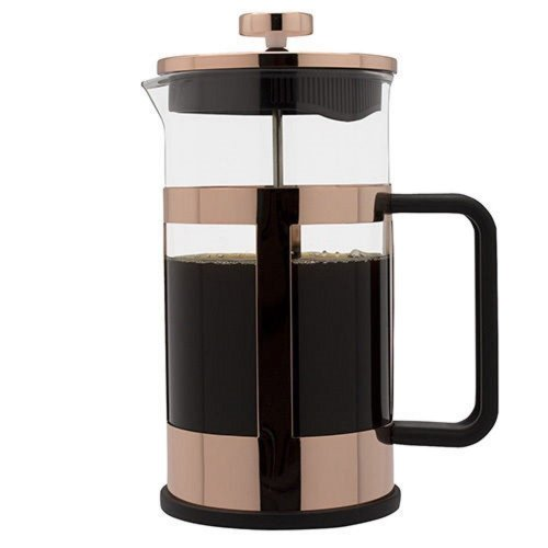 Grunwerg Cafe Ole Coffee Maker 1L Copper Finish Cafetiere Fresh Coffee Ground Beans
