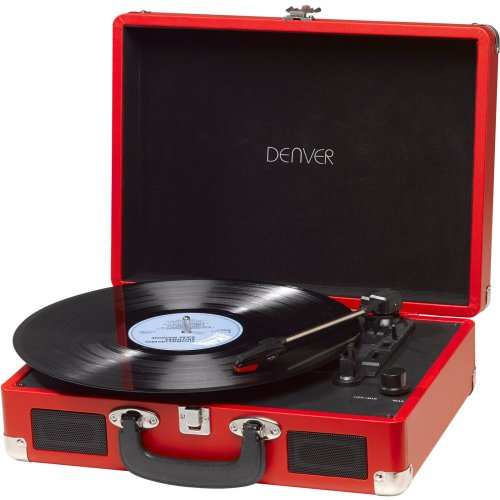 Denver VPL-120RED USB turntable with PC sw VPL-120RED