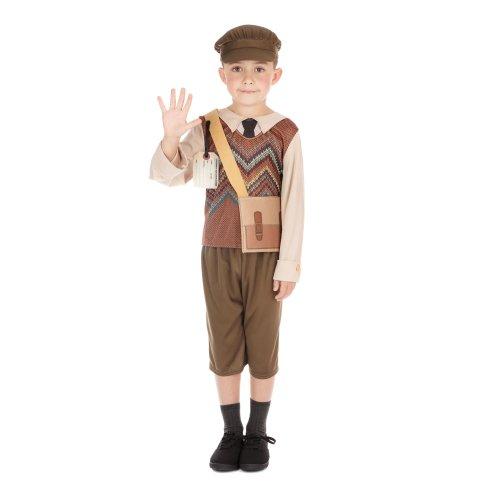 Kids Evacuee School Boy Costume
