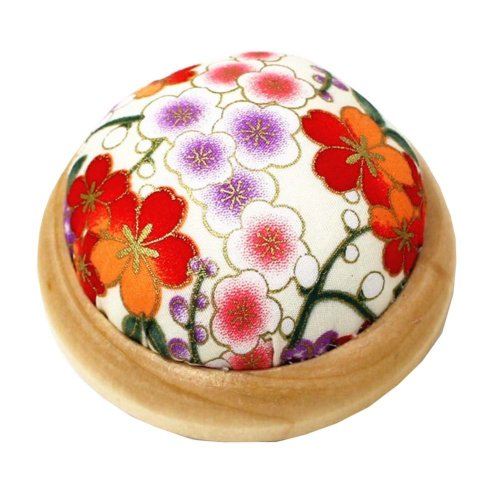 Set of 2 Pin Cushions for Sewing with Wood Base - 03