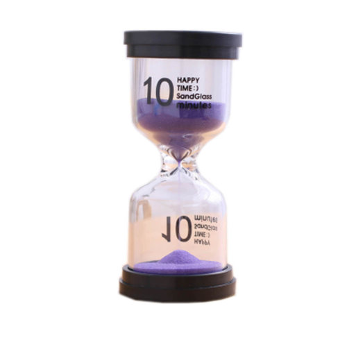 Colorful Sand Timer Hourglass Sandglass Small Ornaments Dropping Ueasily, 10 minutes + Purple