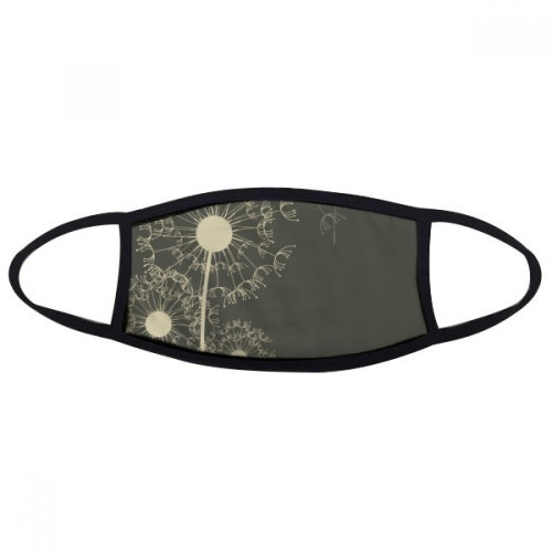 Dandelion Flowers Plants Illustration Mouth Face Anti-dust Mask Anti Cold Warm Washable Cotton Gift