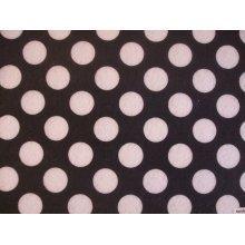 "Black with White Spots Spotty Polka Dot Felt. 9"" x 12"