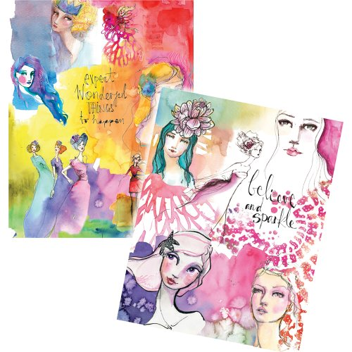 Jane Davenport Artomology Washi Sheets 4/Pkg-Washi Girls