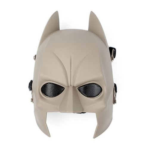 Airsoft Batman Mesh Tan De Sand Brown Mask Helmet Uk Fancy Dress