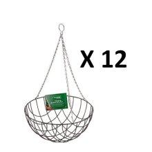 12 X Kingfisher Hb12G 12-Inch Hanging Flower Basket Garden Pathway