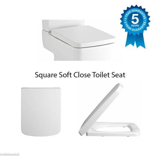 Square Soft Close Toilet Seat