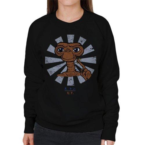 ET Extra Terrestrial Retro Japanese Women's Sweatshirt