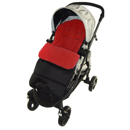 Footmuff//Cosy Toes Compatible with Maclaren Quest Sport Pushchair Fire Red