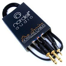 """2 x 1/4"""" Mono TS Jack (Pair) to 3.5mm Stereo Mini TRS Jack Audio Cable 1.5m 5ft"""