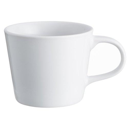 Set of 6 Large White Porcelain Mugs Generous Sized Handles 31cl Capacity