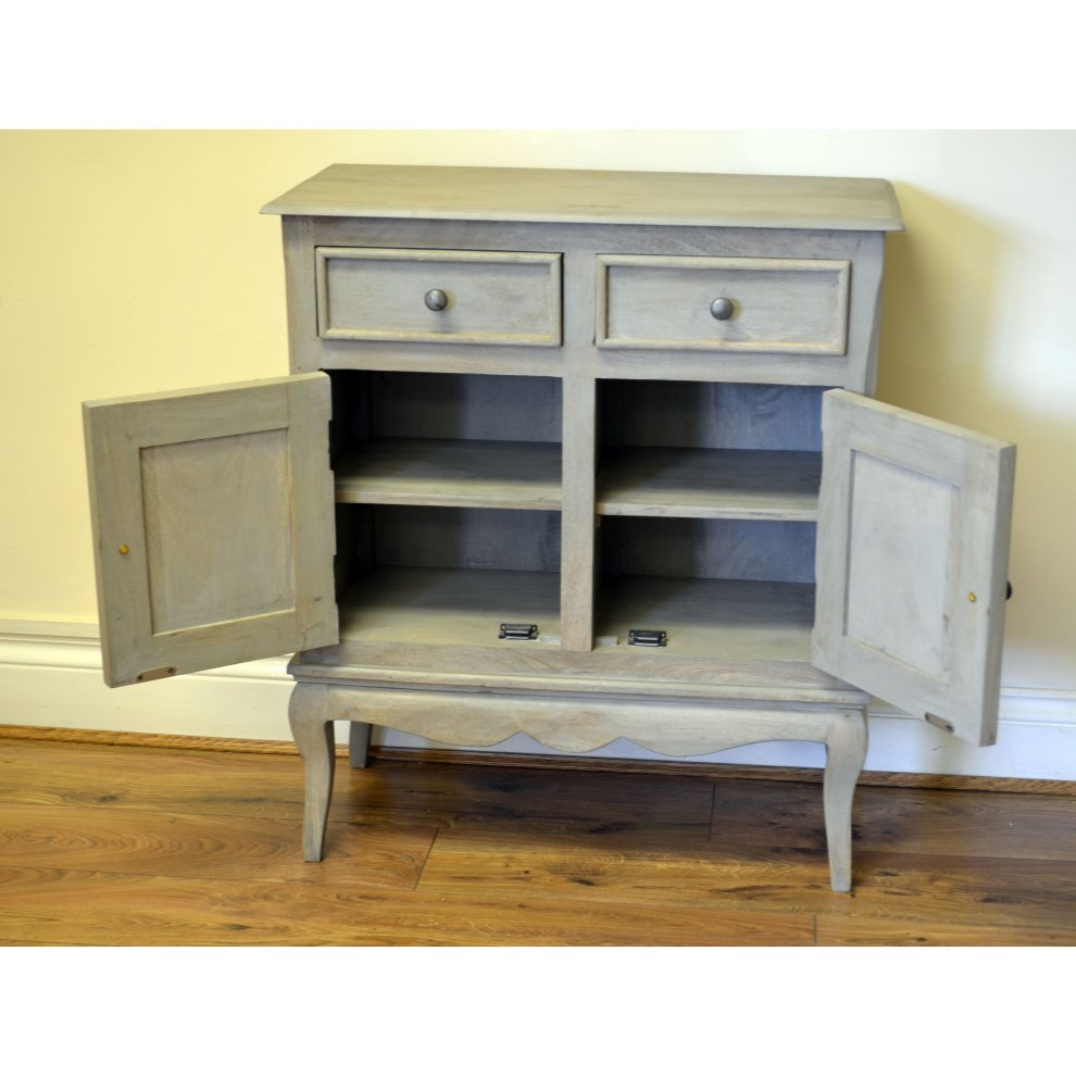 Bourdeilles Slim Sideboard Cupboard Hall Cabinet Solid Shabby Chic
