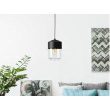 Black and Transparent Glass Ceiling Light JURUA