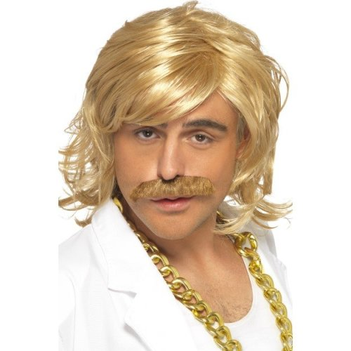Blonde Men Game Show Host Kit, Wig & Tash -  wig show game host tash fancy dress kit costume keith lemon celebrity blonde mens smiffys set