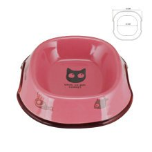 5-Inch Lovely Environmental protection Ceramic Cat Food Bowl ,PINK (17*13.5cm)