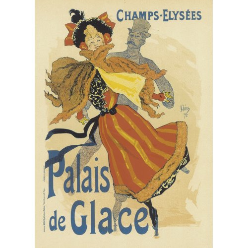 Advertising poster - Palais de Glace Champs Elysées - High definition printing on stainless steel plate