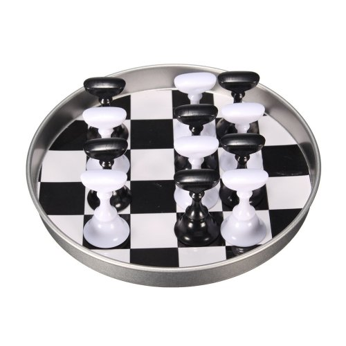 12 Pcs Chess Board Nail Art Tips Display Holder Crystal Magnetic Stand Set Manicure Salon