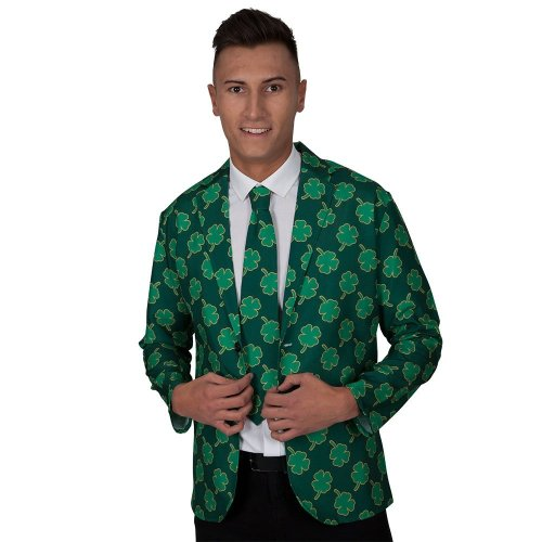 Irish Shamrock St Patrick's Day Jacket & Tie