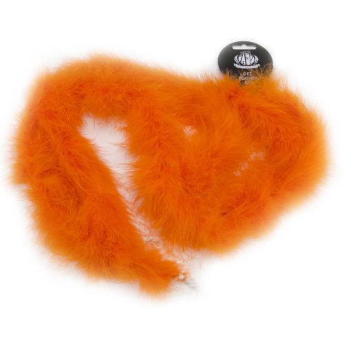 "Zucker Marabou Feather Boa Solid Color Medium Weight 72""-Orange"