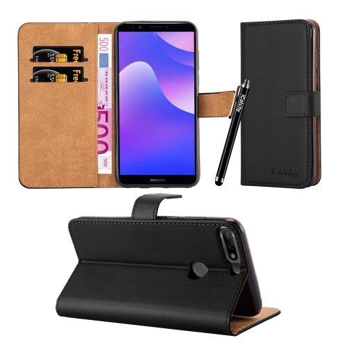 For Huawei Y7 2018 Leather Wallet Folio Case Cover