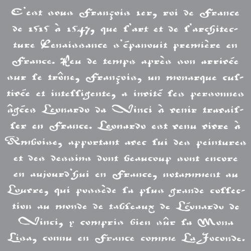 """Americana Decor Stencil 12""""X12""""-Old French Script"""