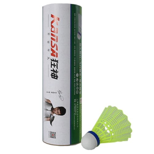 Stable Windproof  Nylon Plastic Badminton Shuttlecocks Training Game Ball 6PCS