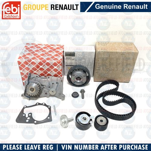 FOR CLIO MEGANE SCENIC TWINGO 1.6 DEPHASER PULLEY TIMING CAM BELT WATER PUMP KIT