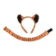 Children's Tiger Ears & Tail Set -  fancy dress animal child set ears tail costume sets disguises book FANCY DRESS TIGER EARS TAIL JUNGLE BOOK BIG