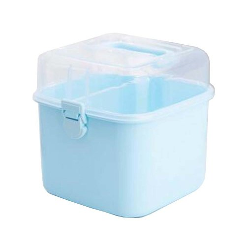 Portable Handheld Family Medicine Cabinet First Aid Kit Storage Box Blue