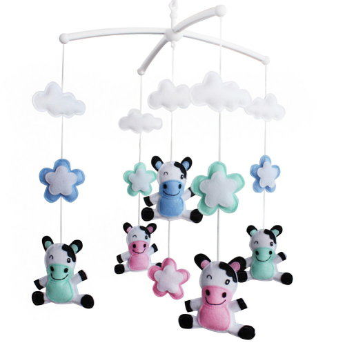 [Cows, Colorful] Baby Crib Mobile, Baby Boy & Girl Bedding Rattle Toy