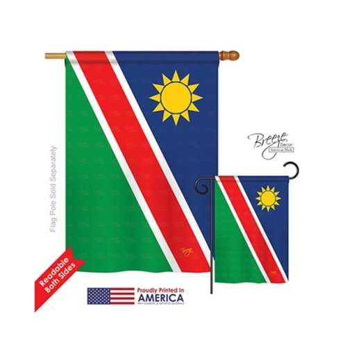 Breeze Decor 08364 Namibia 2-Sided Vertical Impression House Flag - 28 x 40 in.