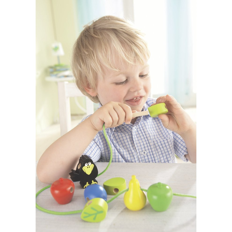Haba Bambini Beads Orchard   wooden beads for children   3397