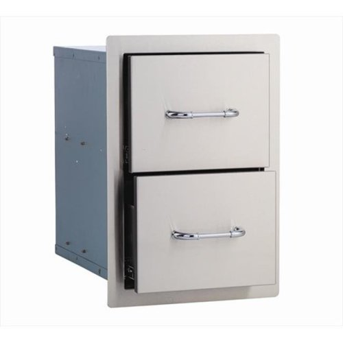 Bull Outdoor Products 56985 Double Drawer, Stainless Steel