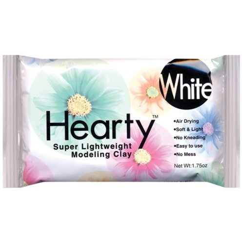 Hearty Super Lightweight Air-Dry Clay 1.75oz-White