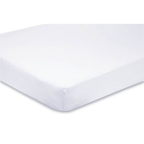 Fitted Sheet Compatible With Chicco Next 2 Me 100% Cotton 86cm x 50cm - White