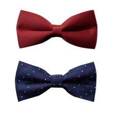 Set Of 2 British Style Formal Wedding Bow Tie Bowtie Men's Bow Tie D