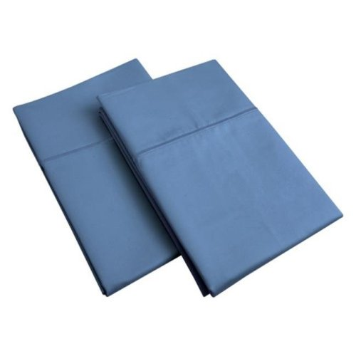 Impressions 800SDPC SLNB 800 Standard Pillow Cases, Egyptian Cotton Solid - Navy Blue