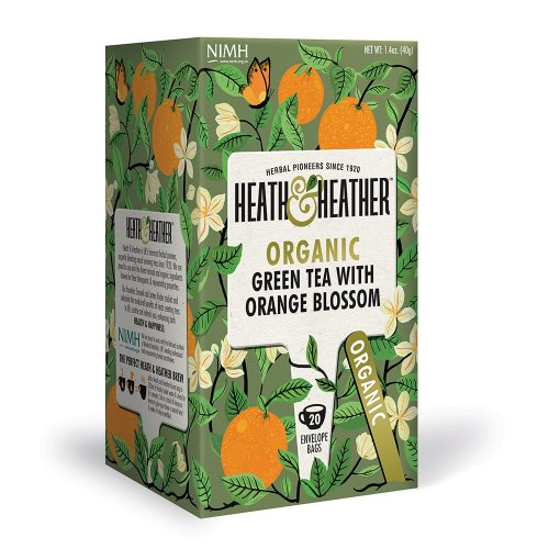 Heath & Heather Organic Green Tea & Orange Blossom Enveloped 20's