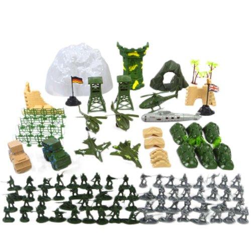 Soldier Scene Models Little Soldier Car Models Children's Toy Gifts - 150PCS
