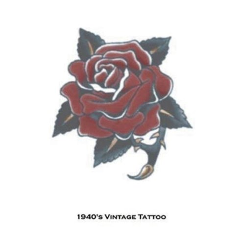 Costumes For All Occasions DF115 Tattoo Vintage Rose