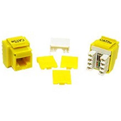 Cables To Go 03798 CAT 5E RJ45 KEYSTONE JACK YELLOW